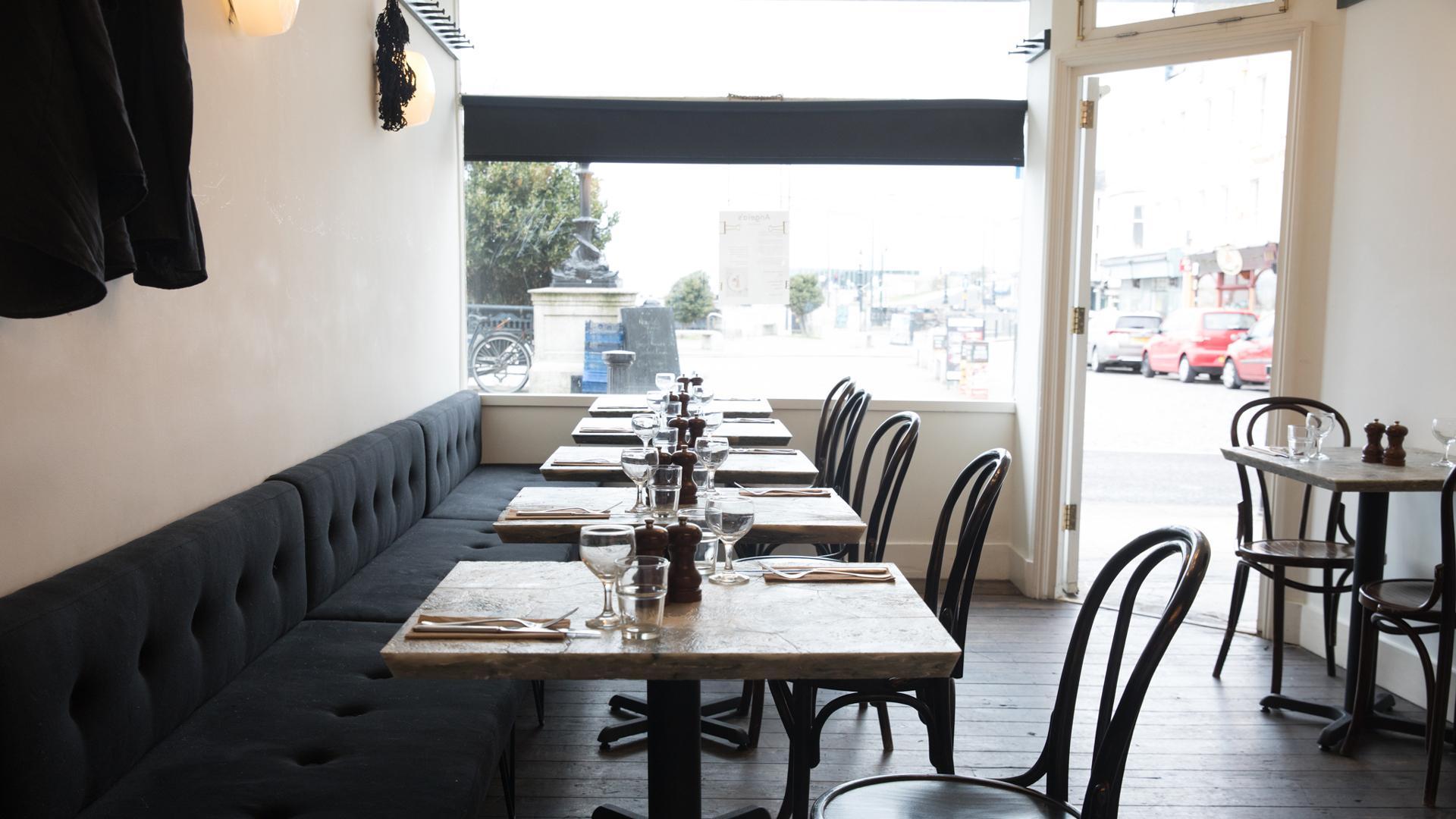 The Kent Coast, U.K.   Inside Angela's restaurant in Margate