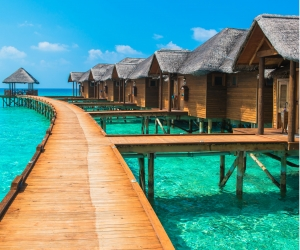 Overwater Bungalows in French Polynesia