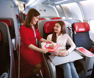 AirAsia Santan airplane food