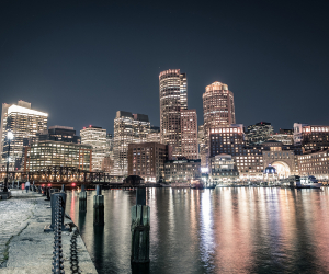 Paul Wahlberg's guide to Boston | View from Boston's harbour at night