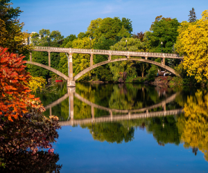 Guelph, Ontario vacation | Scenic river in fall